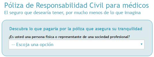 Cálculo de prima de Seguro Responsabilidad Civil Sanitario