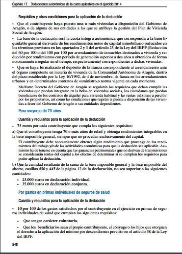 Deducciones Aragón