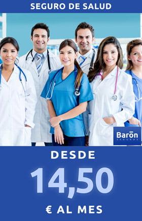 Seguro de salud desde 14,5 € al mes